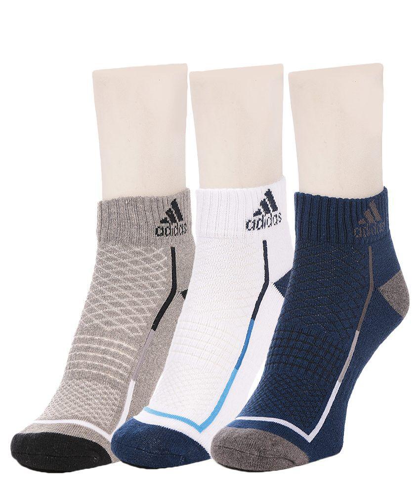 Adidas Mens Half Cushion High Ankle  Socks - 3 pair pack