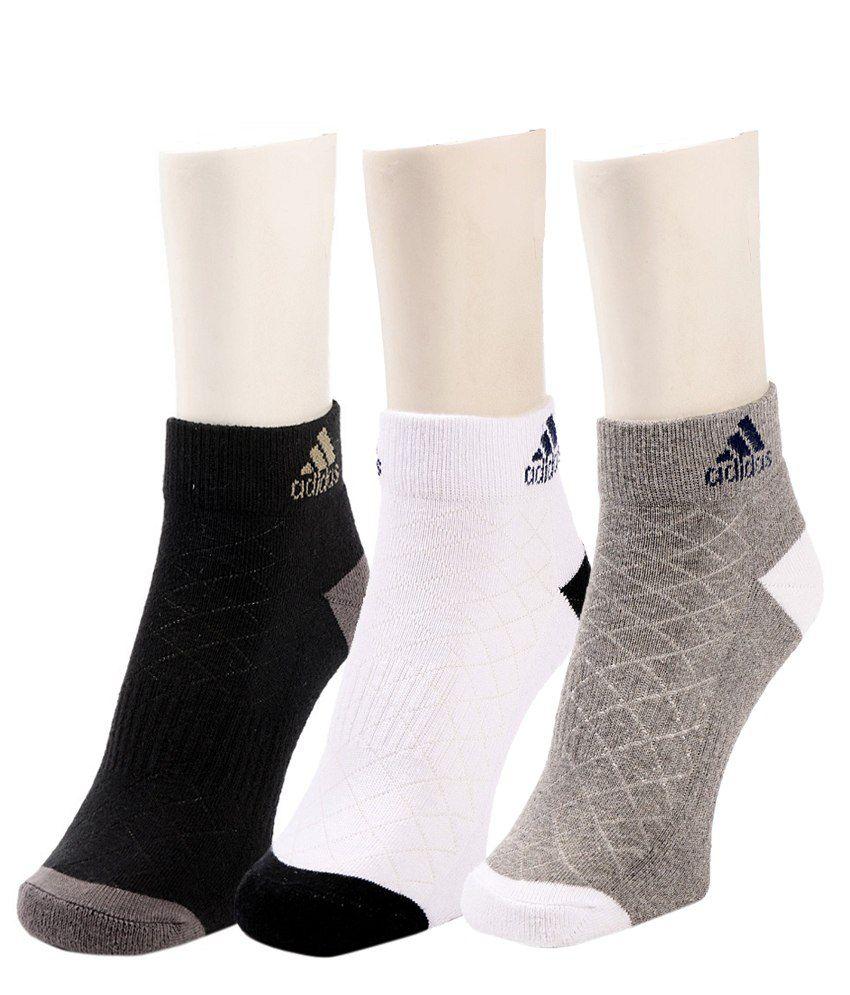 Adidas Mens Half Cushion- Low Cut Socks - 3 pair pack