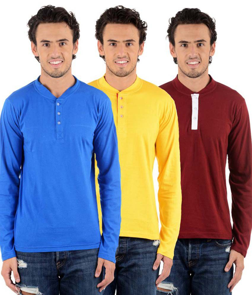 Big Idea Multicolour Cotton Blend T-shirt Pack Of 3