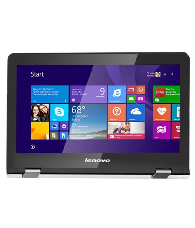 Lenovo Yoga 300 2-in-1 (80M0003WIN) (Intel Pentium Quad Core- 4GB RAM- 500GB HDD- 29.46 cm (11.6) Touch- Windows 8.1) (White)