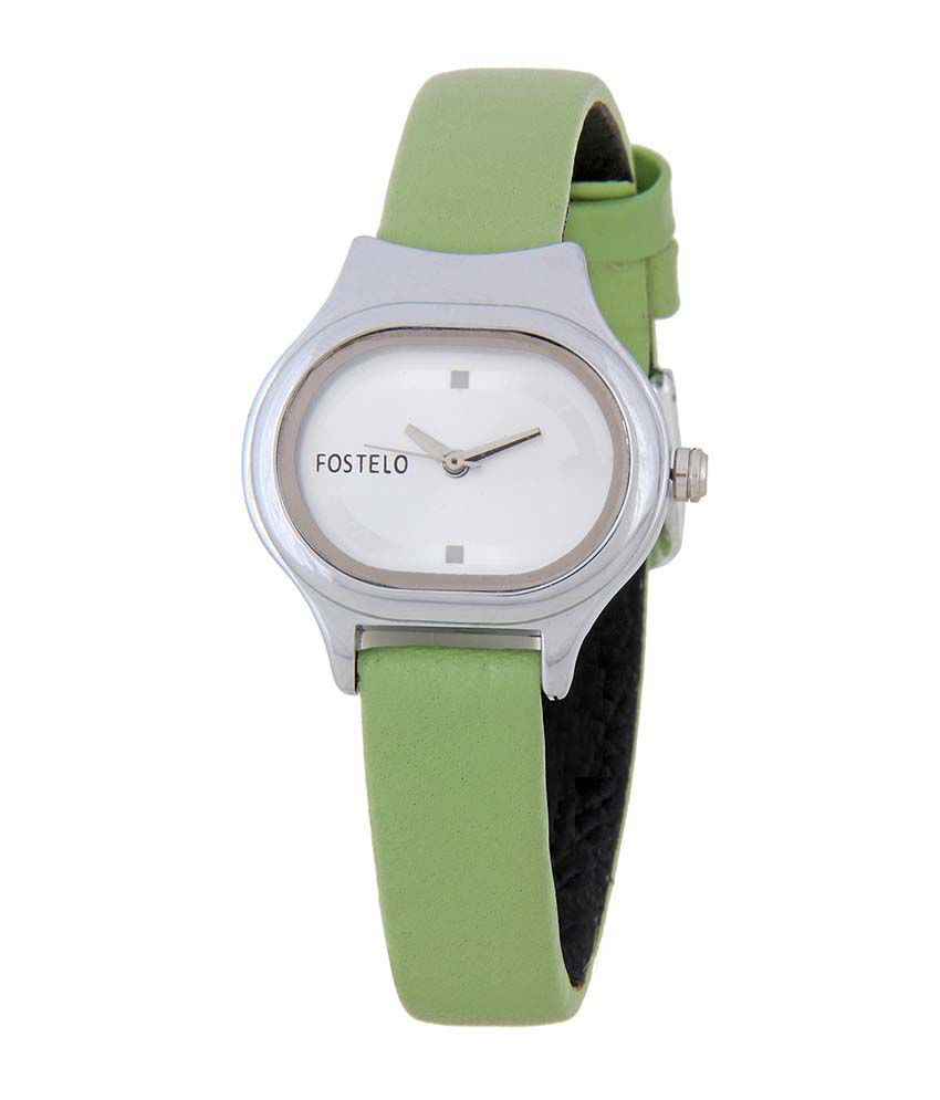 Fostelo Silver Oval Dial Analog Casual Watch