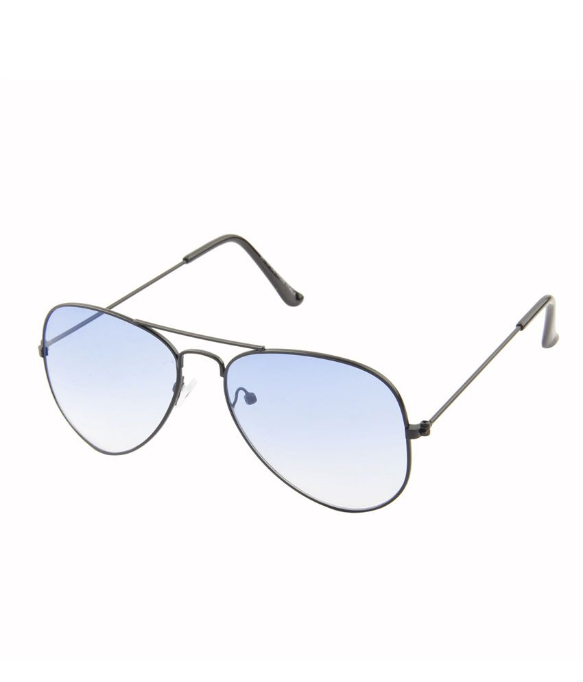 Aten 302556-7_0715 Black Sky Blue Aviator Sunglasses