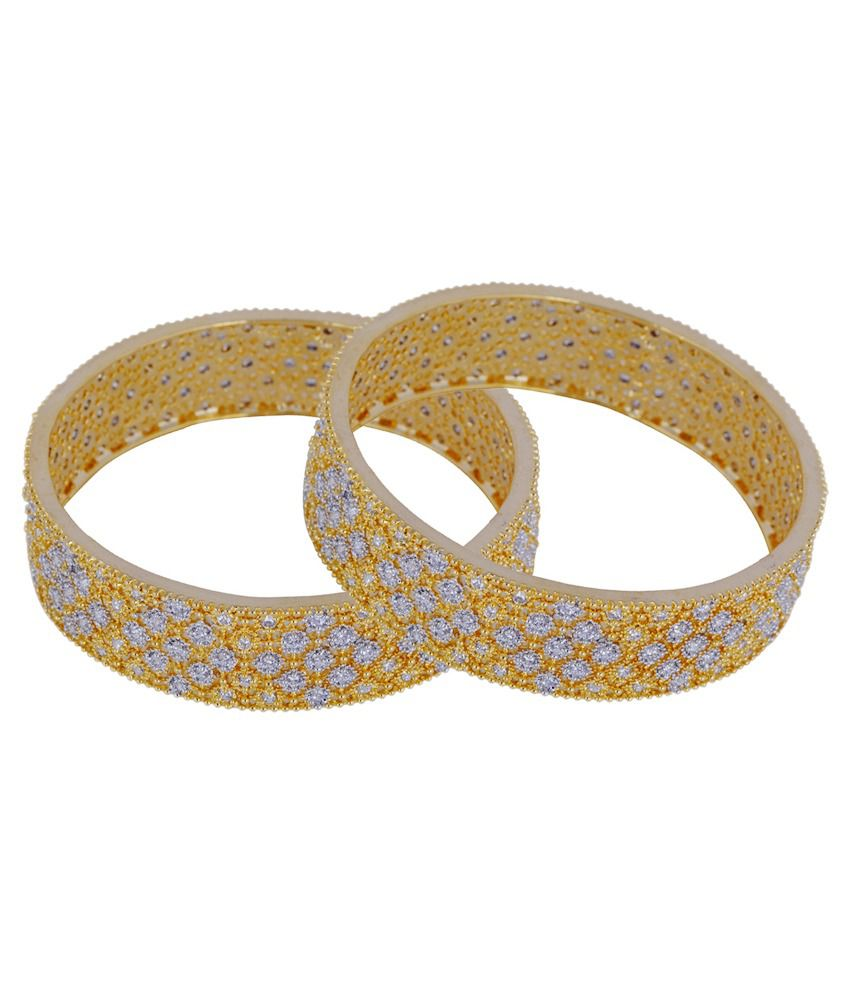 Chaahat Fashion Jewellery Golden Copper Bangle Set