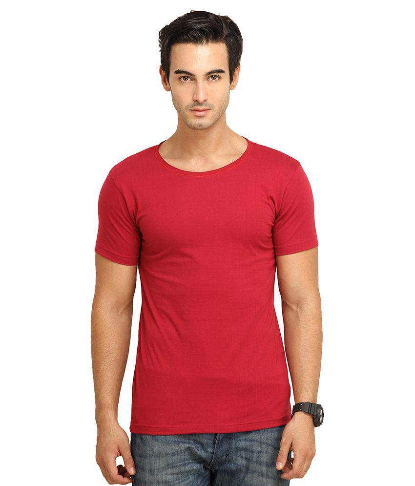 FIO Red Cotton T-Shirt