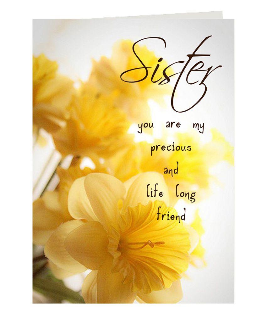 Giftsbymeeta Printed My Precious Sister Greeting Card Rakhi Greeting