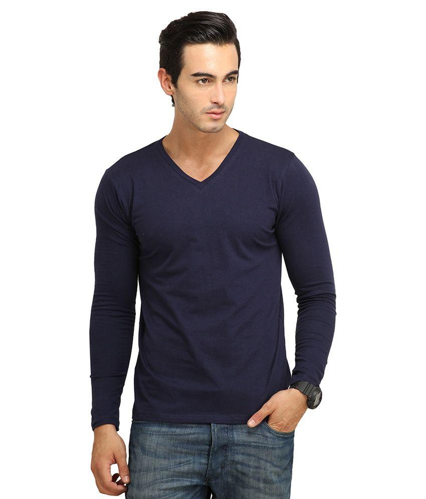 FIO Blue Cotton T-Shirt