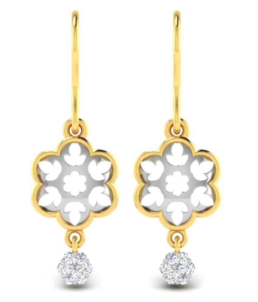 His & Her 18kt Gold 0.09 Carat Diamond Danglers