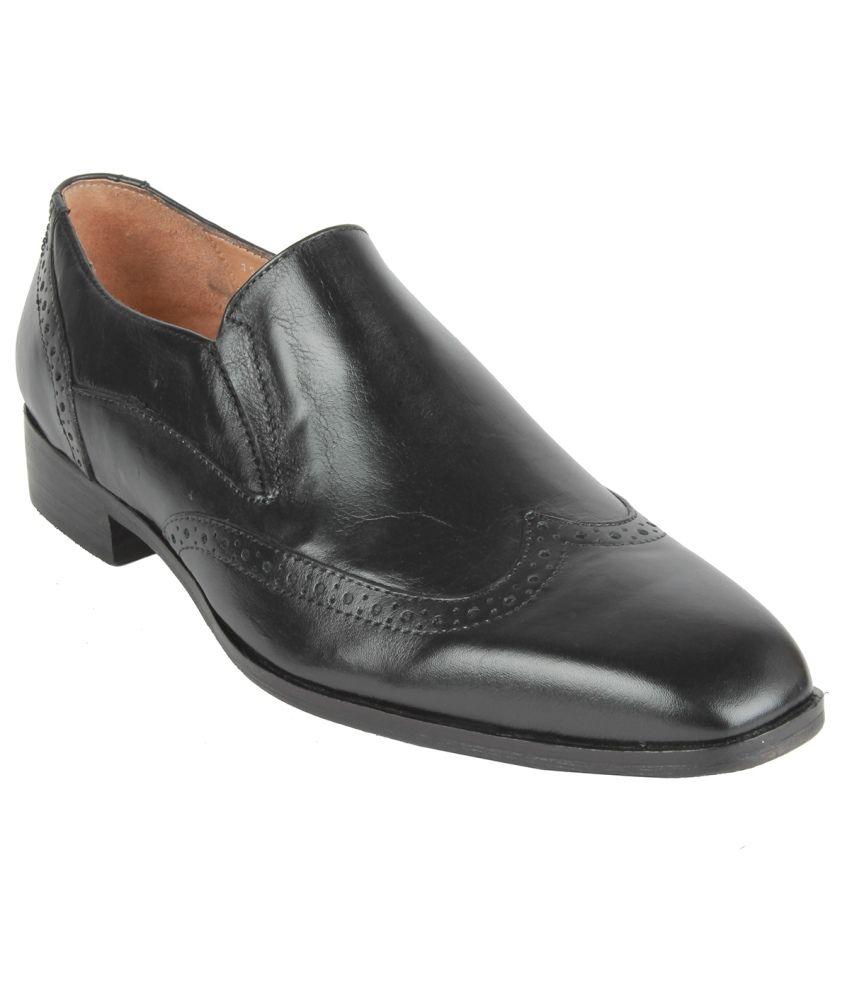 Salt N Pepper Black Formal Shoes