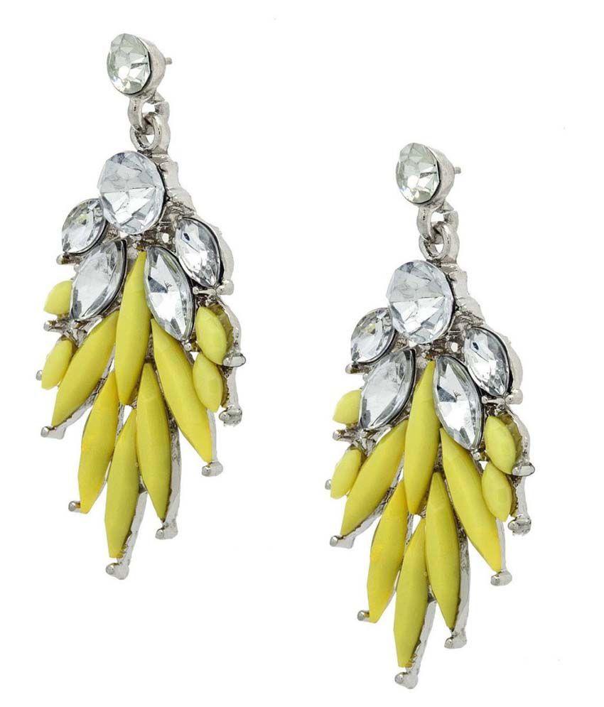 Amroha Craft Yellow Alloy Drop Earrings