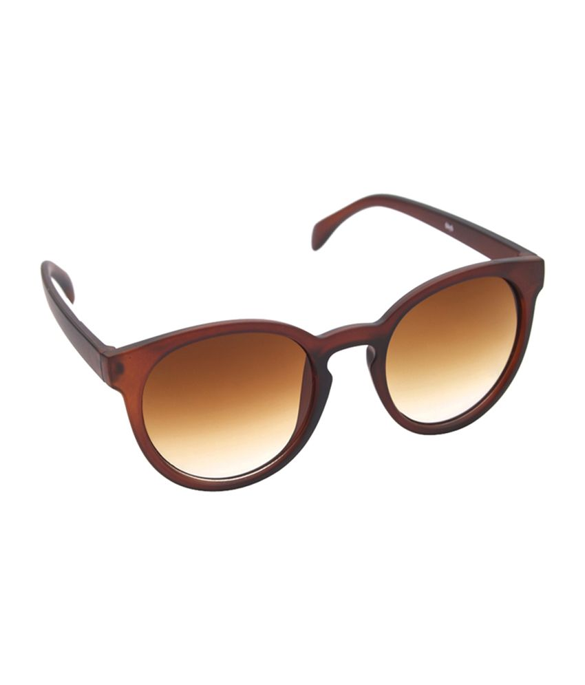 6by6 Brown Round Unisex Sunglasses