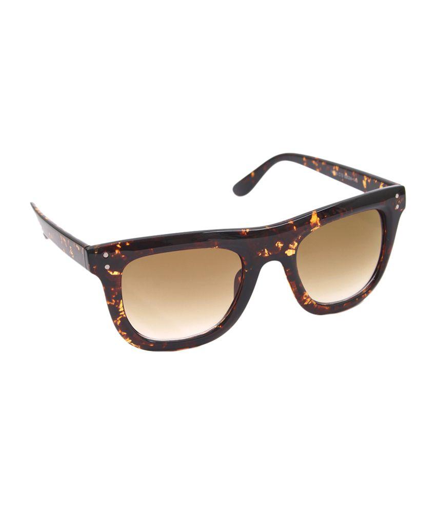 6by6 Brown Wayfarer Unisex Sunglasses