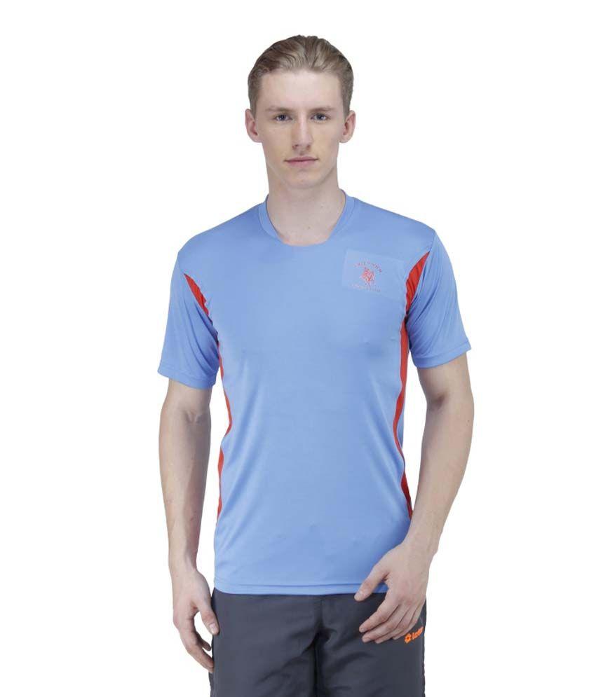 Greenwich United Polo Club Blue Polyester T Shirt