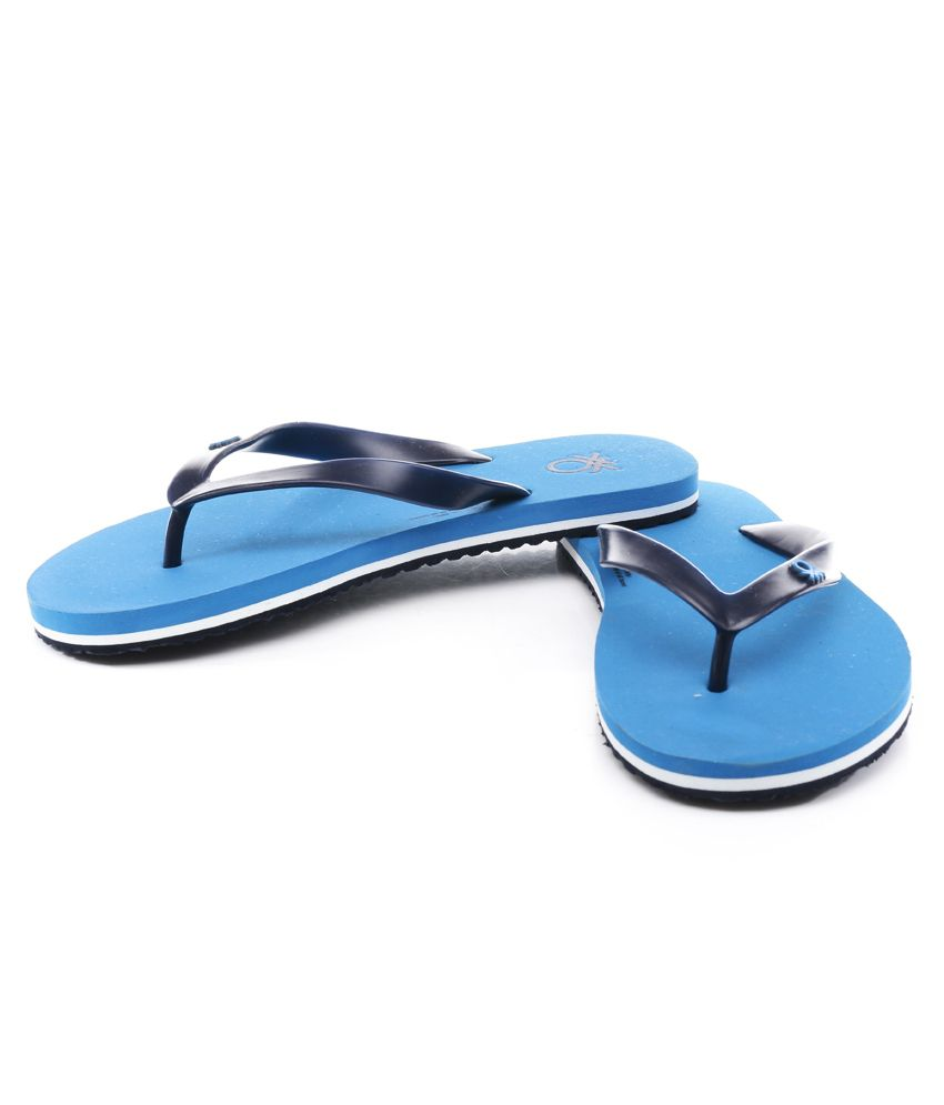 69ed71841 United Colors Of Benetton Blue Slippers Price in India- Buy United ...