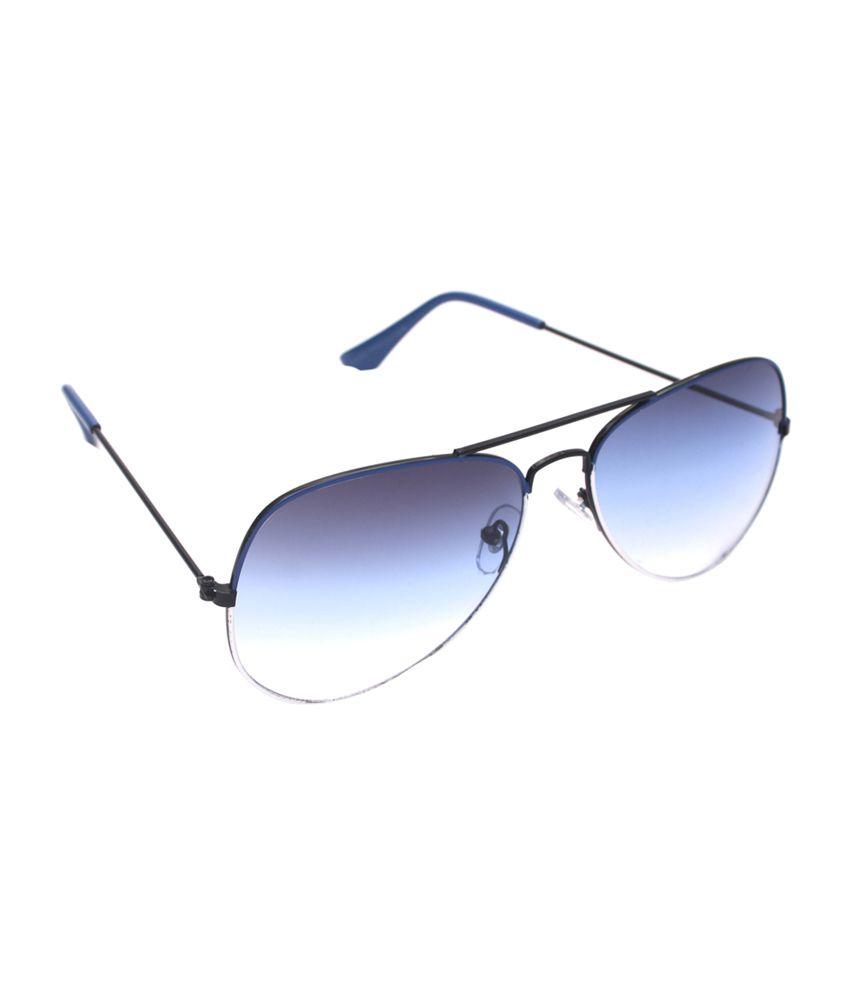 6by6 Blue & Black Aviator Unisex Sunglasses