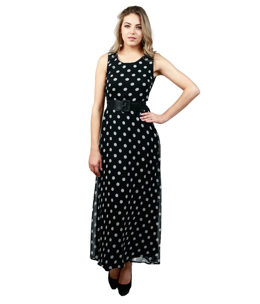 e8b81a58ece Emmylyn Black Chiffon Maxi Dress - Buy Emmylyn Black Chiffon Maxi Dress  Online at Best Prices in India on Snapdeal