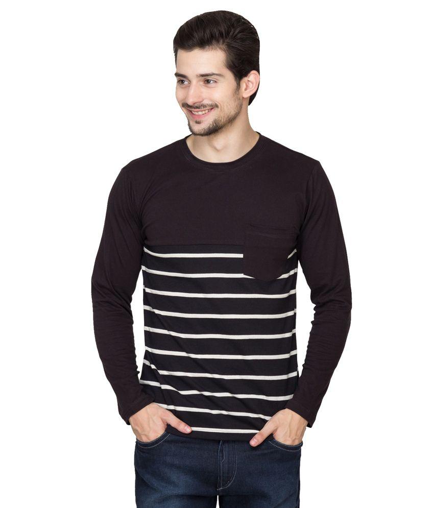 2debc9c18d0 Hypernation Black Cotton Round Neck Full Sleeve T-Shirt - Buy Hypernation  Black Cotton Round Neck Full Sleeve T-Shirt Online at Low Price -  Snapdeal.com