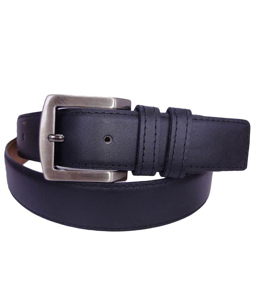 Revo Black Leather Pin Buckle Formal Belt For Men