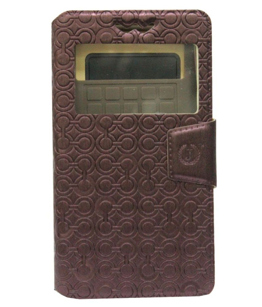Jo Jo Cover Astro Series Leather Pouch Flip Cover For LG Optimus F7 - Brown