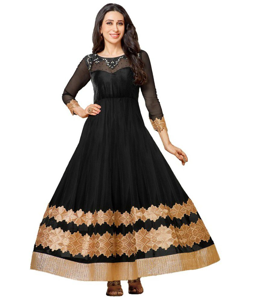eb7940470e Indian Wear Online Beige and Black Georgette Unstitched Dress Material -  Buy Indian Wear Online Beige and Black Georgette Unstitched Dress Material  Online ...