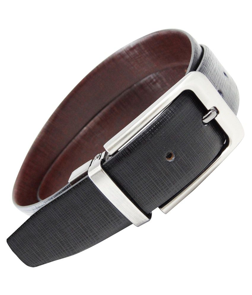 Stylo World Black Leather Pin Buckle Formal Belt