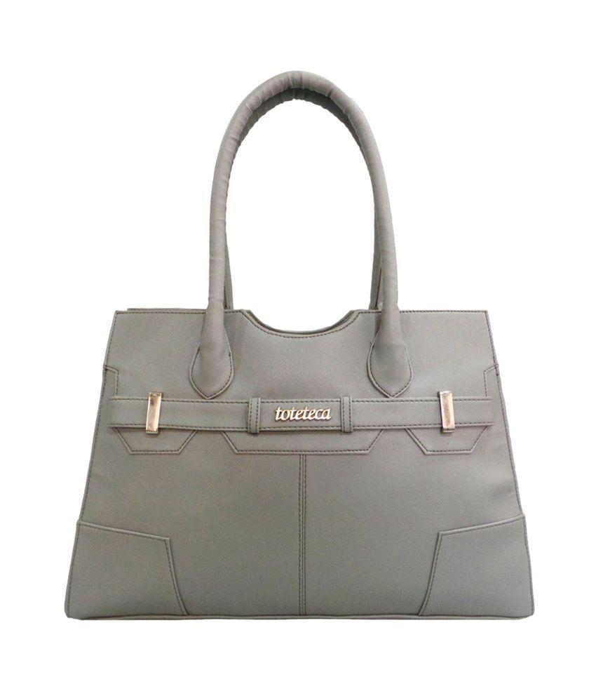 Toteteca Bag Works Gray Zip Shoulder Bag