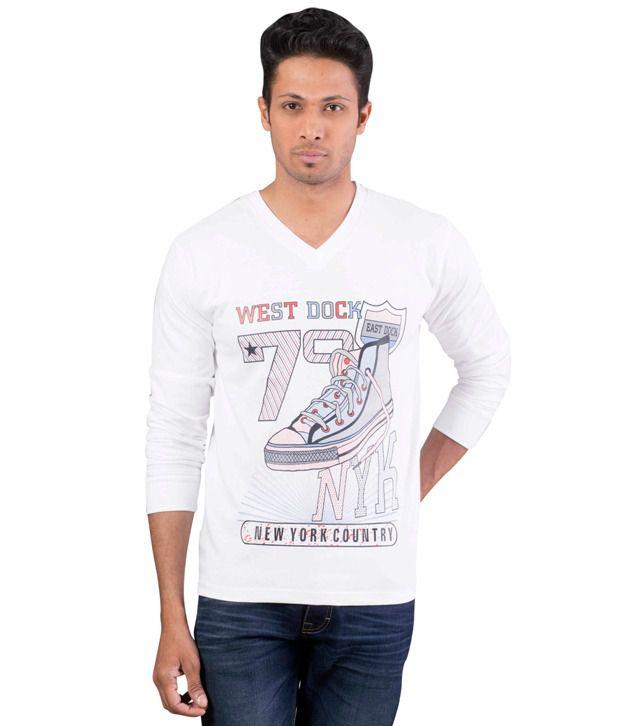 Oviyon V-neck Full sleeve Graphic T-shirt