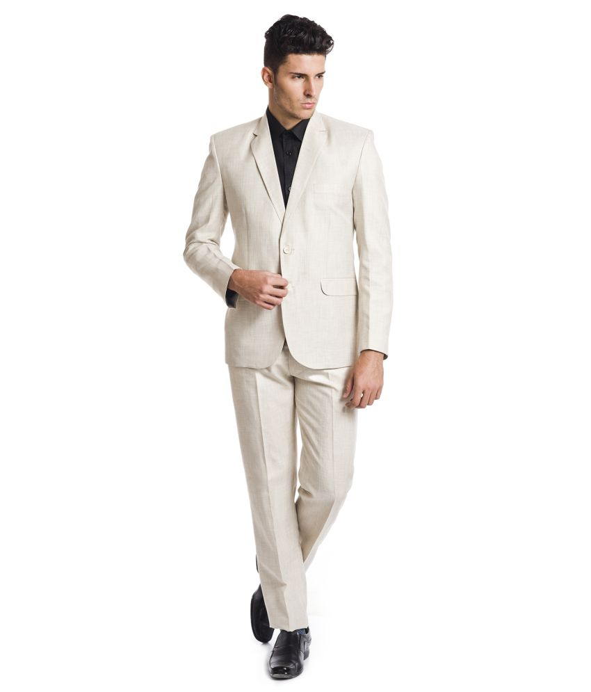 Wintage Beige Linen Suits