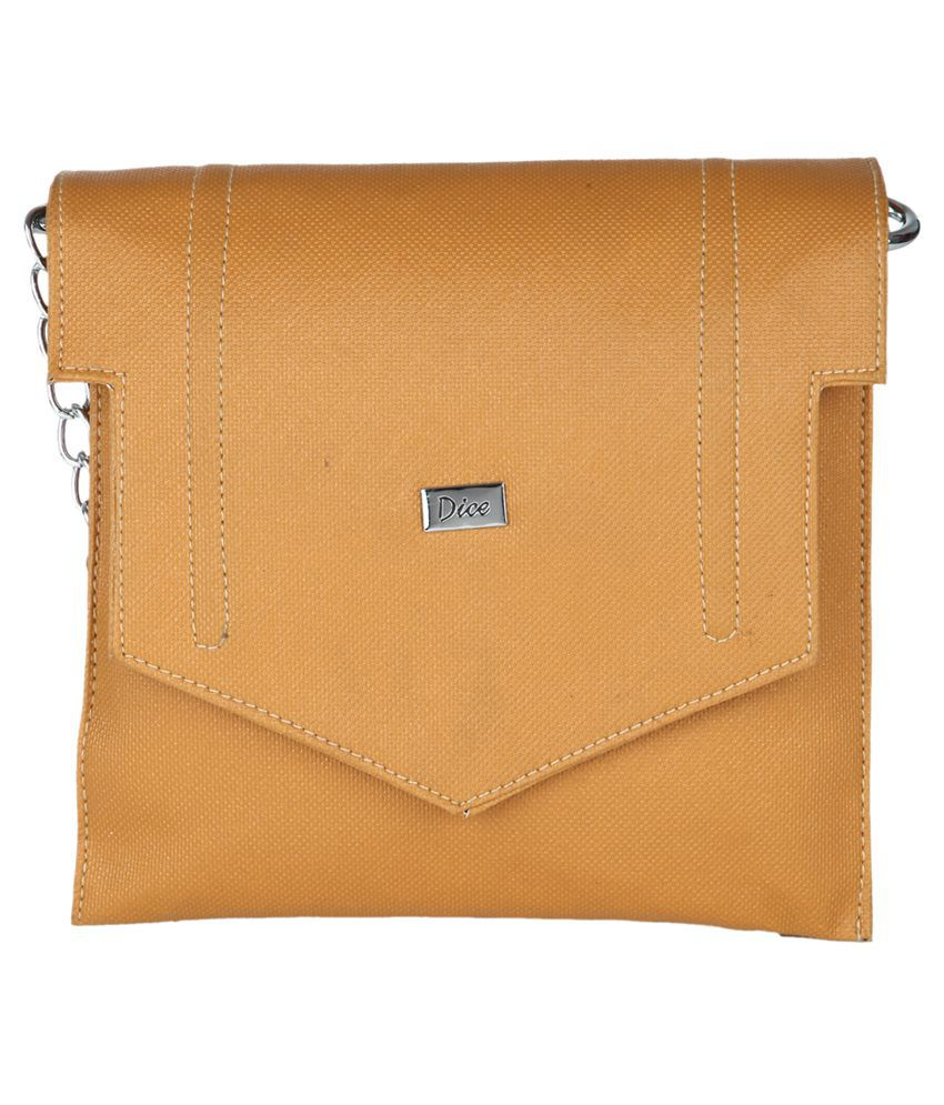 Dice Beige Sling Bag