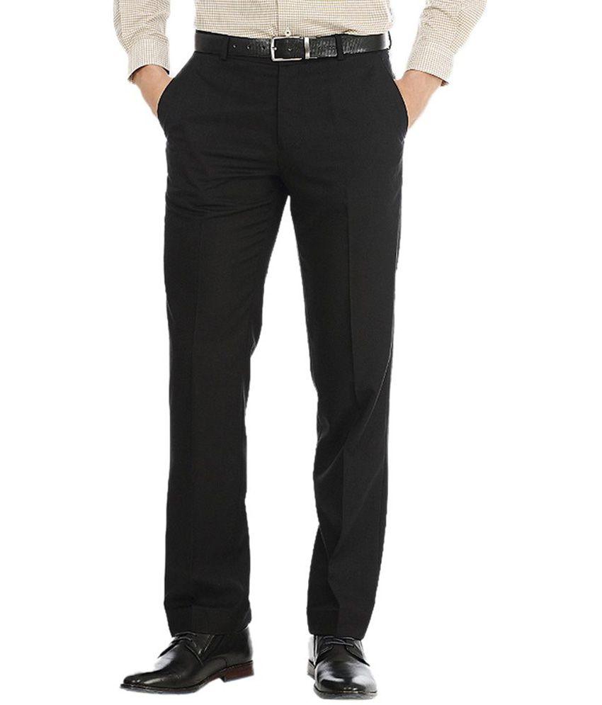 AD & AV Black Poly Viscose Trouser