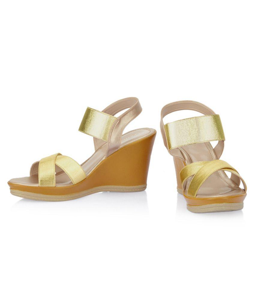 74c94fd772b1fa Catwalk Gold Wedge Heeled Sandals Catwalk Gold Wedge Heeled Sandals ...
