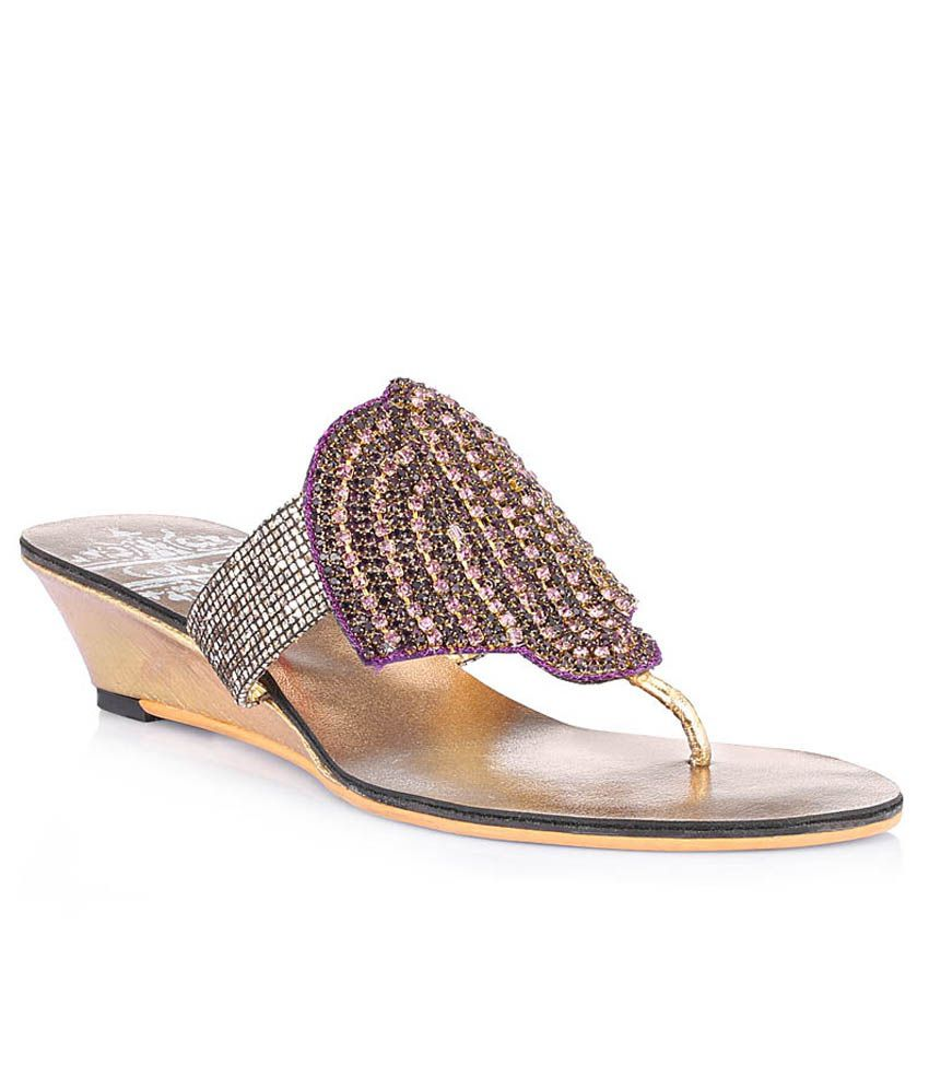 Catwalk Purple Flat Heeled Slip-Ons
