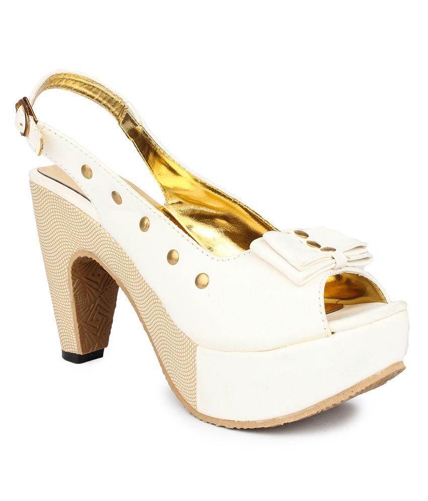 DJH White Block Sandals