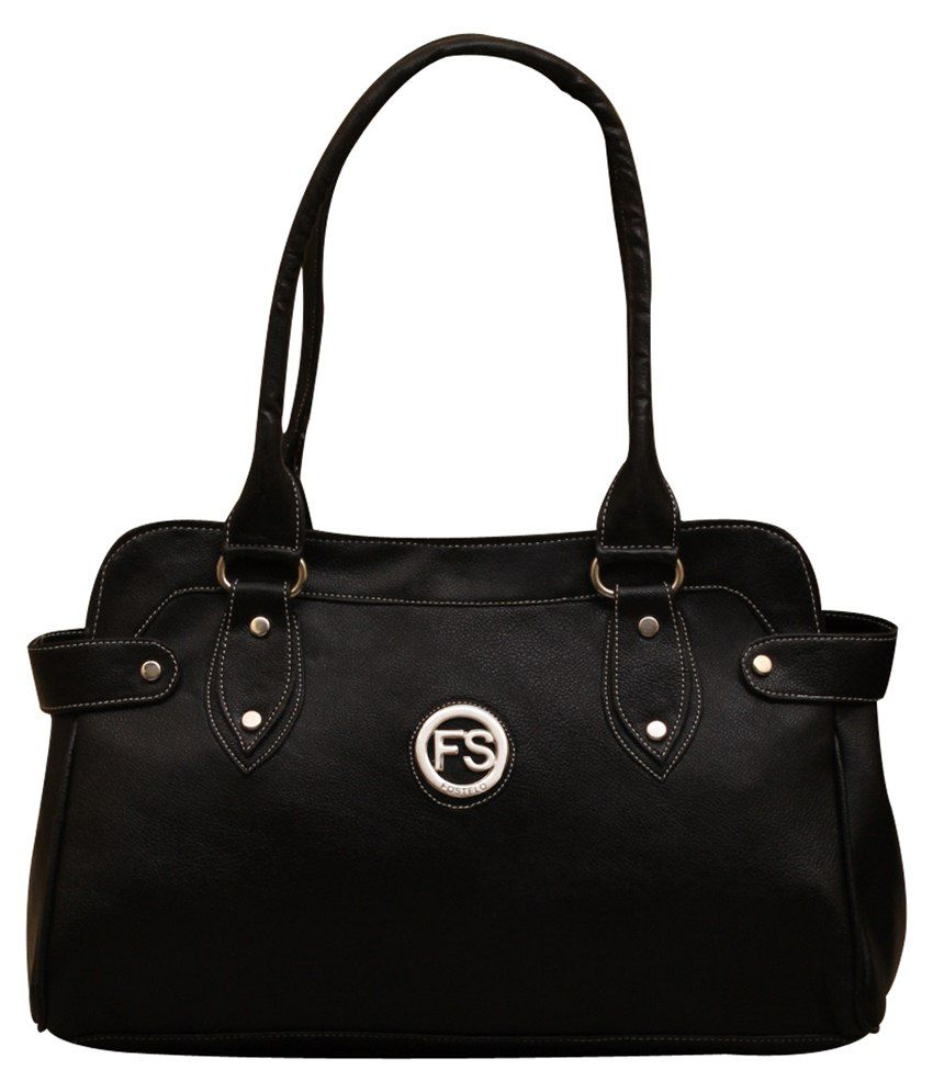 Fostelo PU Shoulder Bag-Black