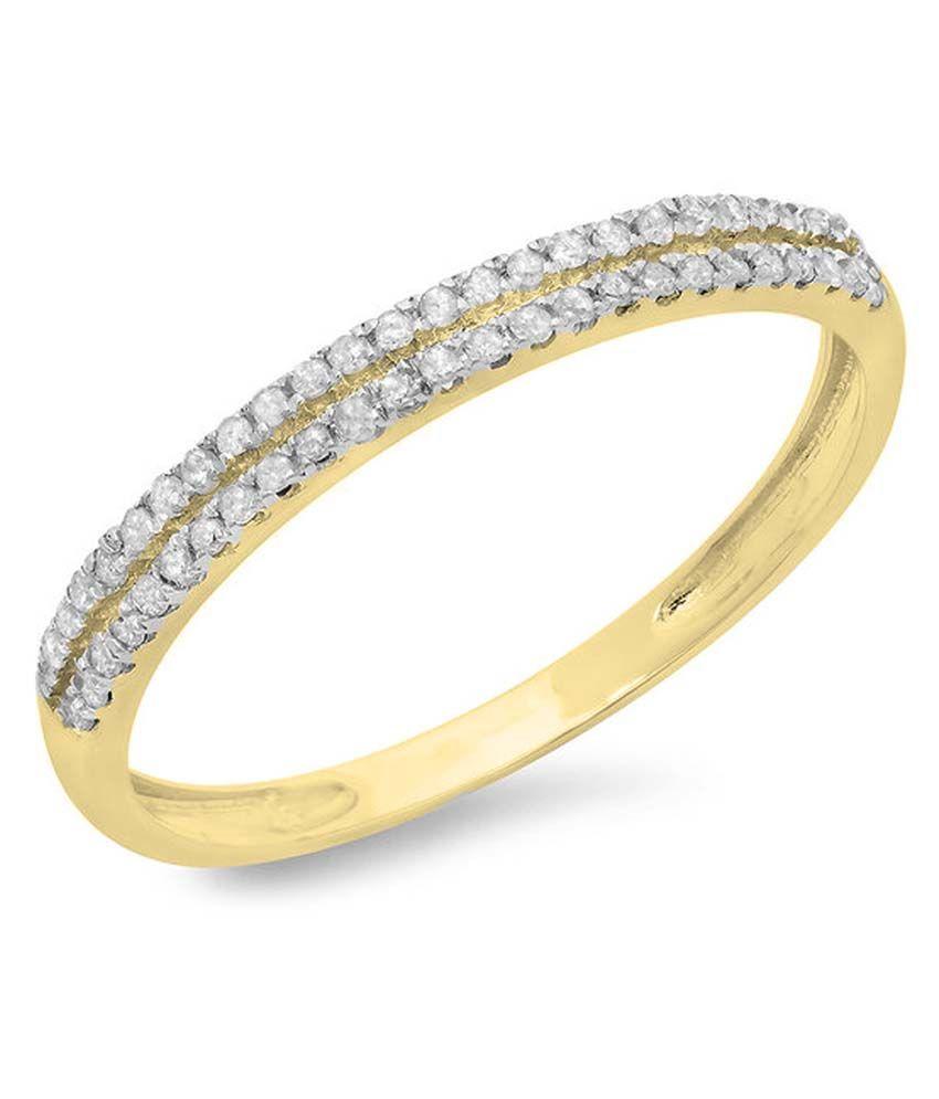 Kavya Jewels 18kt Gold Traditional Diamond Round Ring