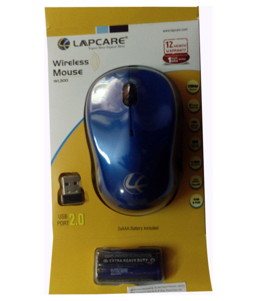 Lapcare WL300 Wireless Mouse Blue