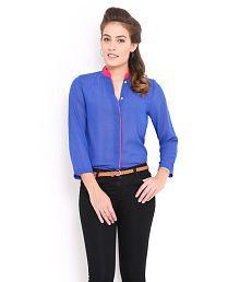 Trend Arrest Blue Polyester Shirts