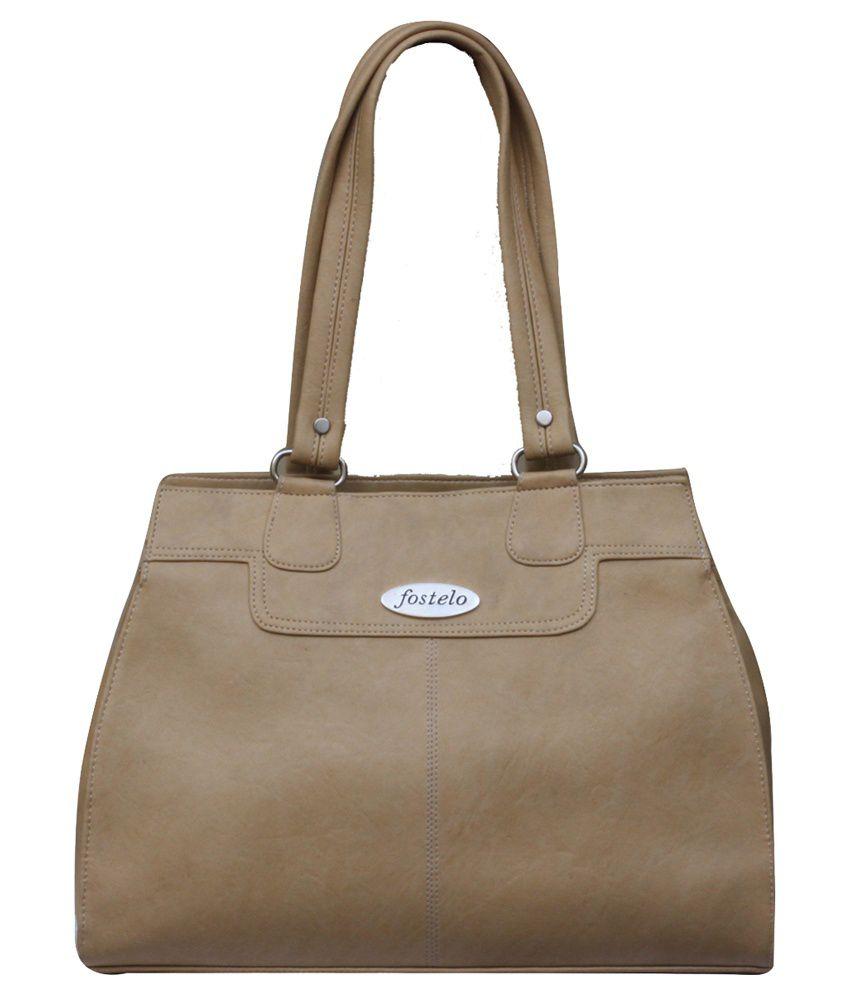 Fostelo Beige Handbag