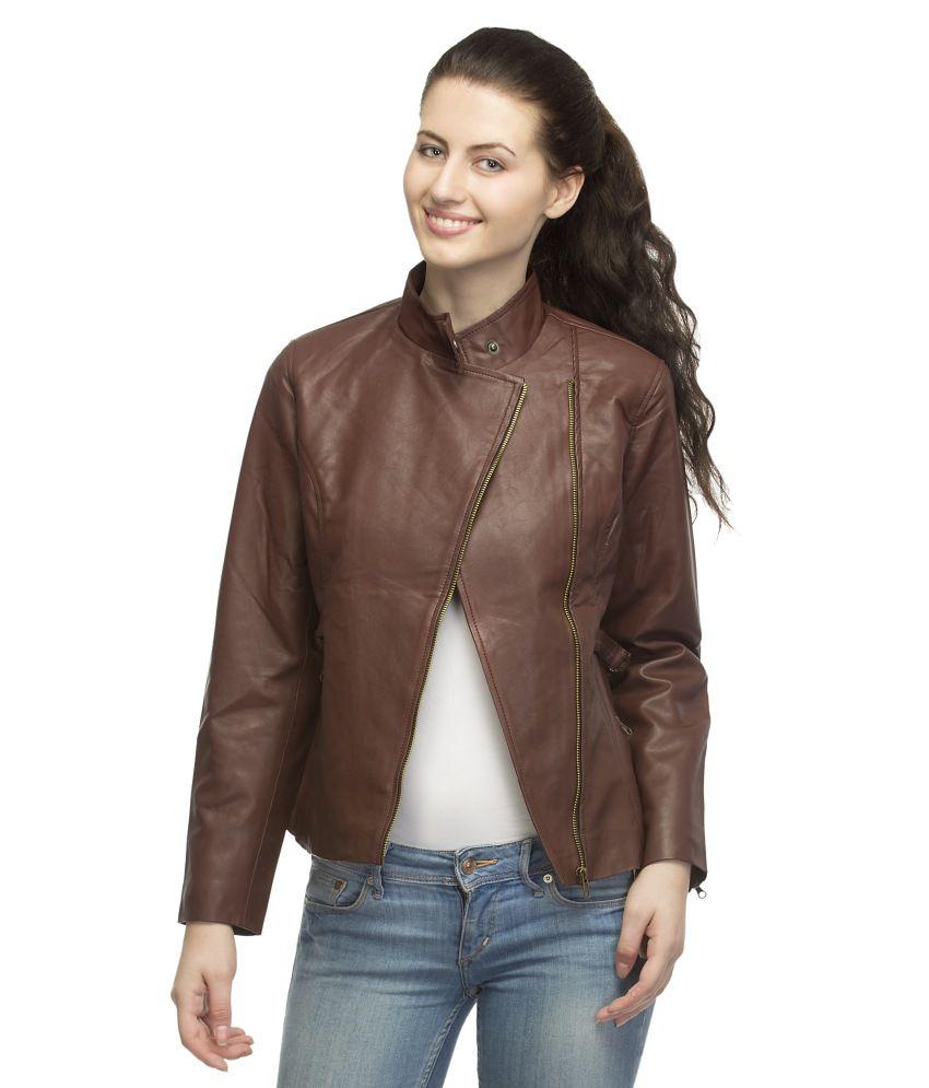 Leather jacket india -  Lambency Maroon Leather Jackets