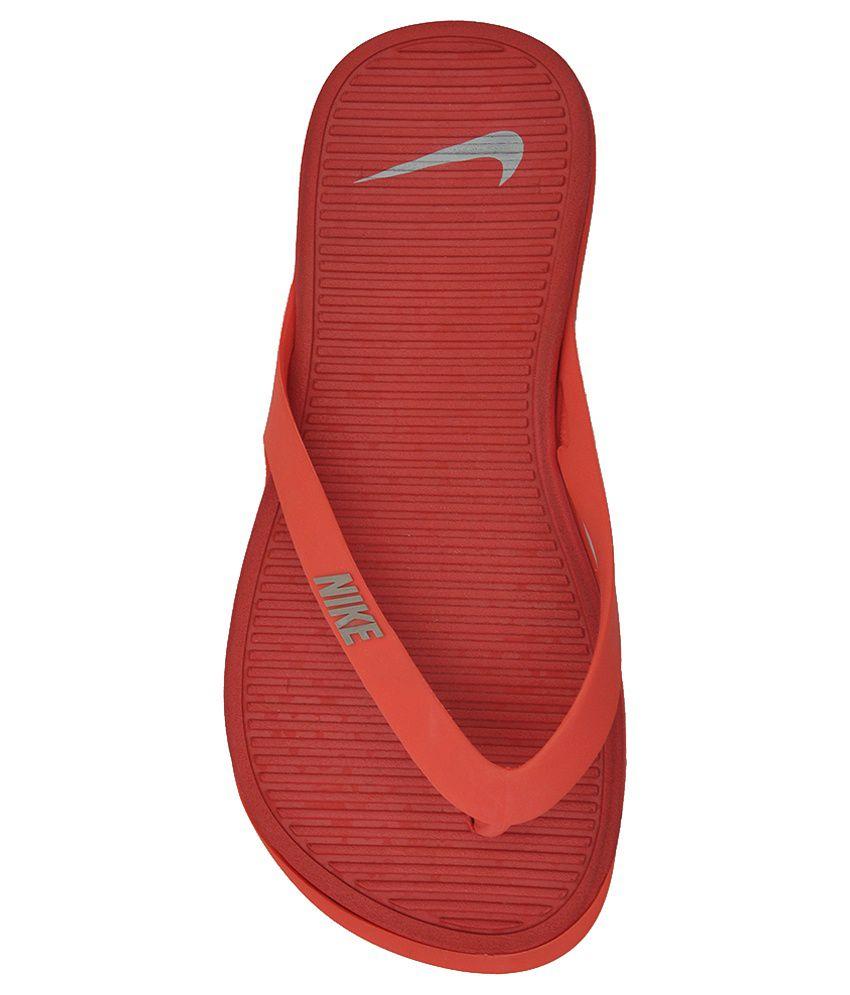 nike red flip flops