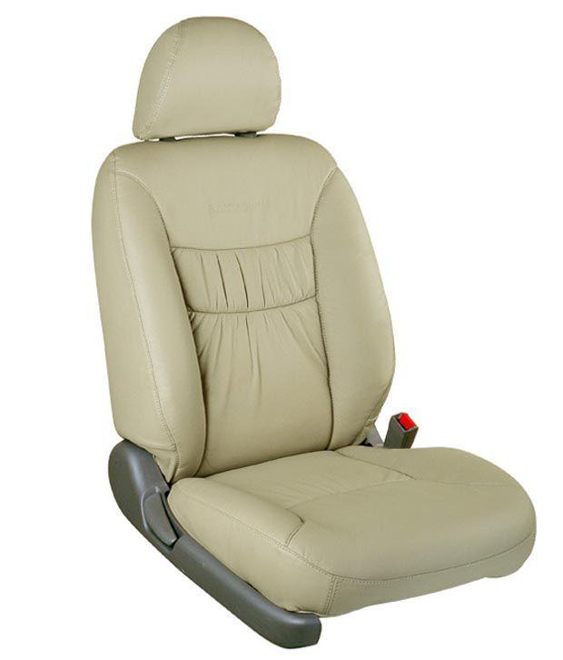 Vegas Beige PU Leather Car Seat Cover For Hyundai Creta