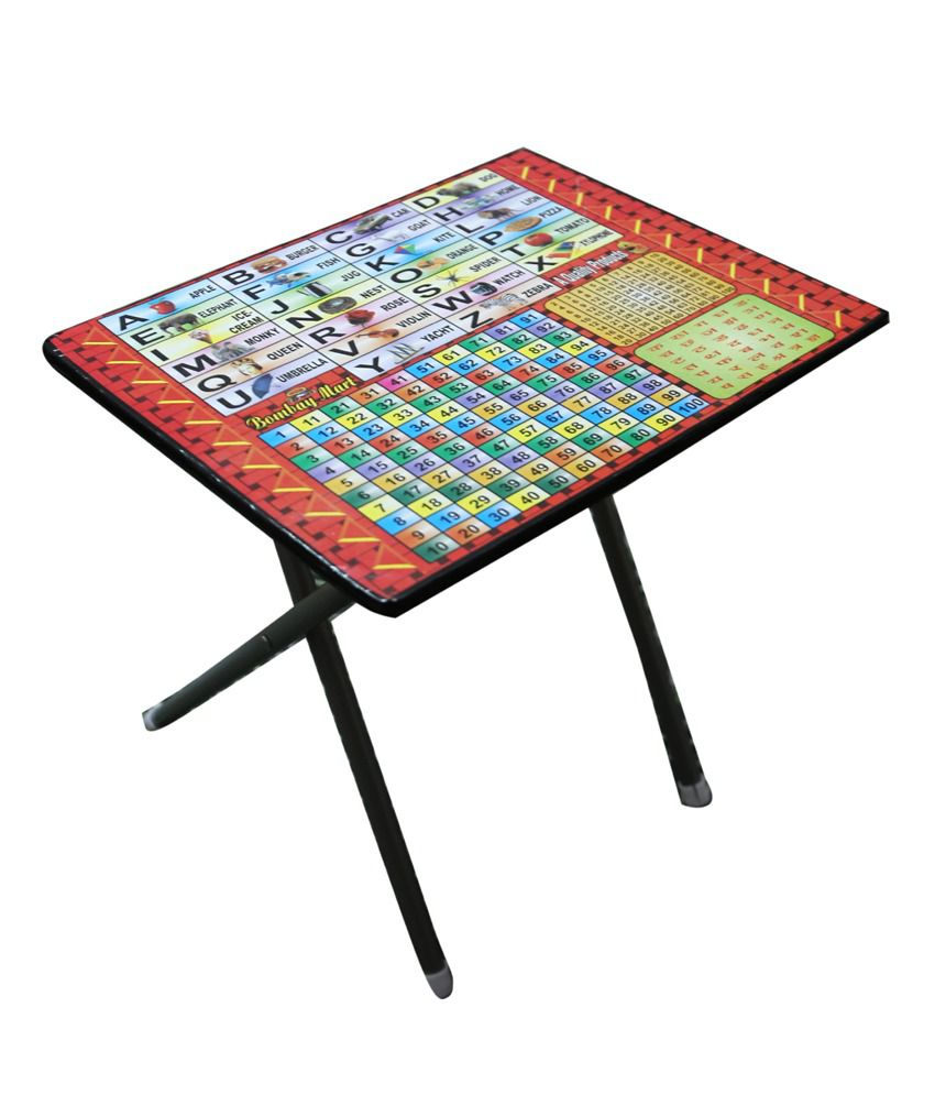 Folding Study Table And Chair -  abasr multicolor steel frame foldable study table and chair