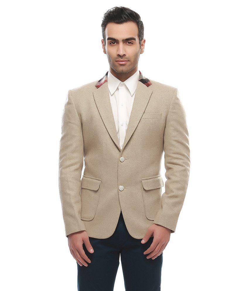 Jogur Brown Cotton Blend Blazer