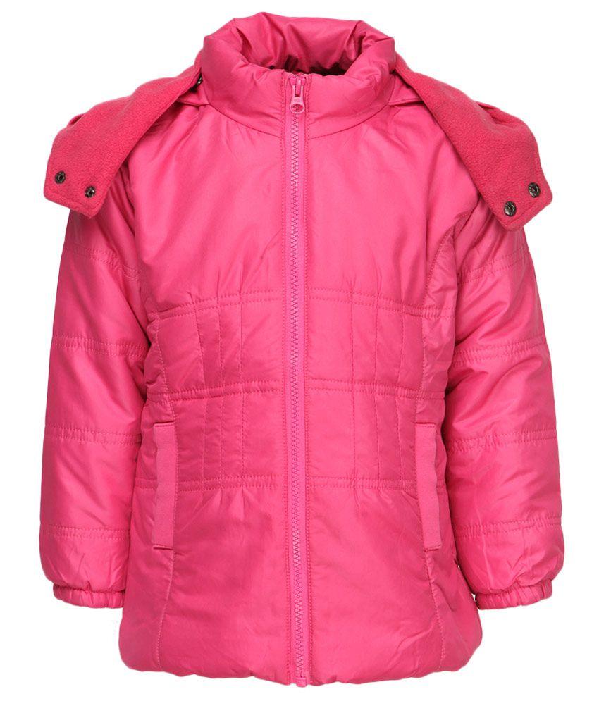 612 League Pink Polyester Full Sleeves Regular Jacket