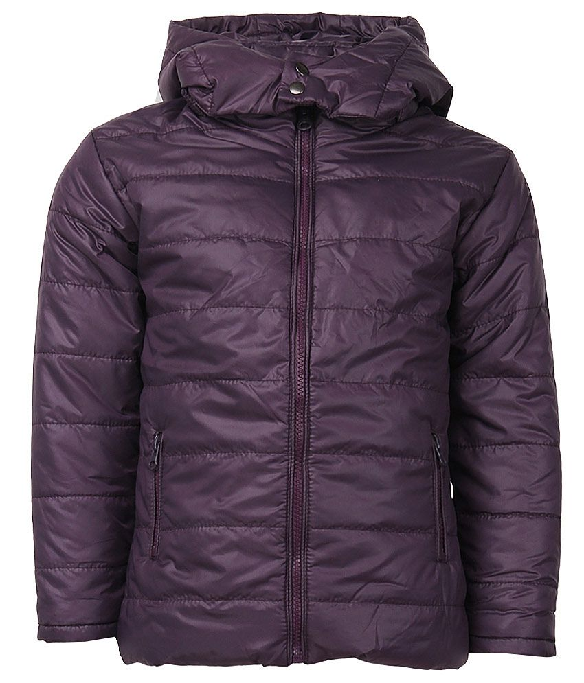 612 League Purple Polyester Full Sleeves Regular Jacket