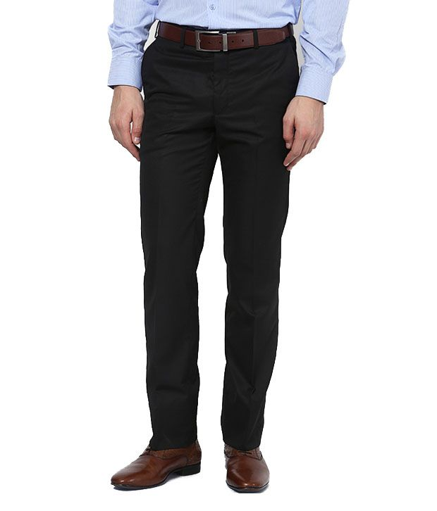 Ad & Av Black Premium Polyblend Formal Trouser