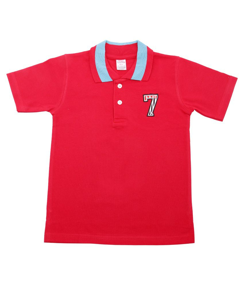 Hillman Red Cotton Solid T-shirt