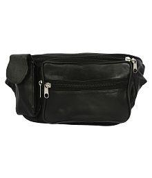 Redix Black Leather Waist Pouch