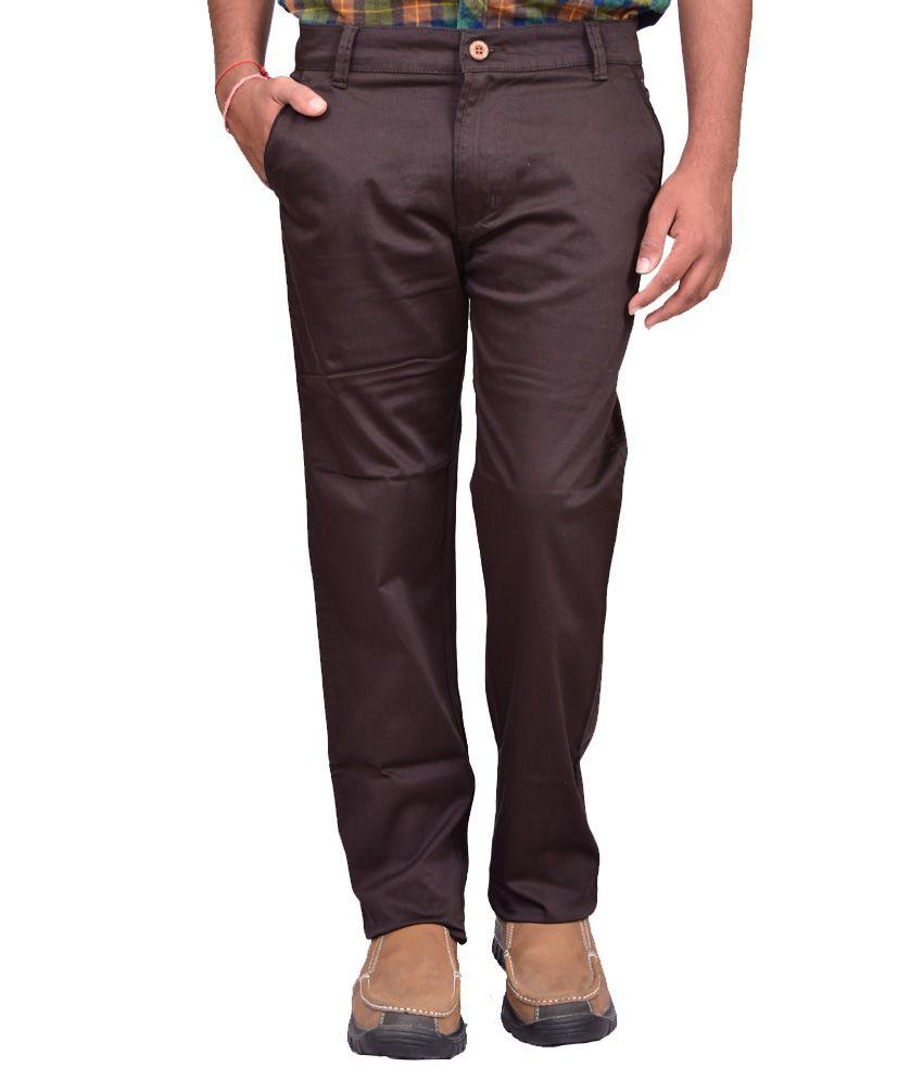British Terminal Brown Comfort Casual Trouser