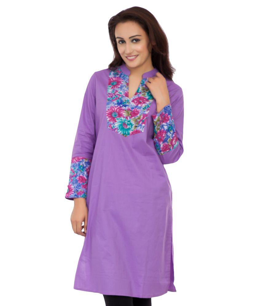 Deewa Purple Cotton Kurti