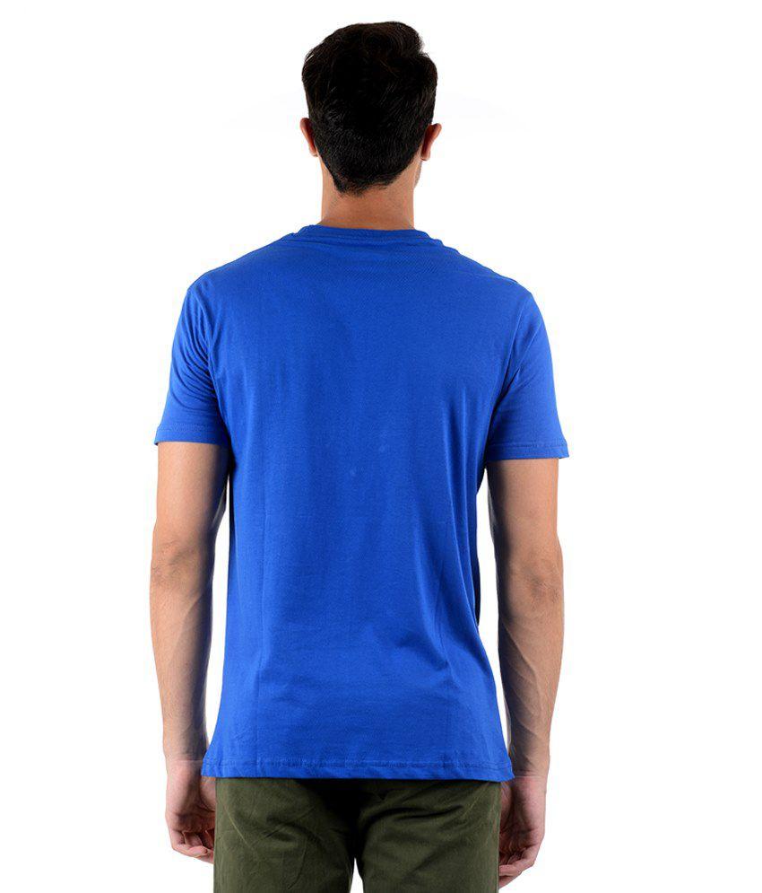 Keywest Blue Half Printed T Shirt